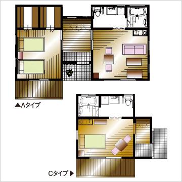 居室にはキッチン、浴室、トイレ、クローゼットを完備